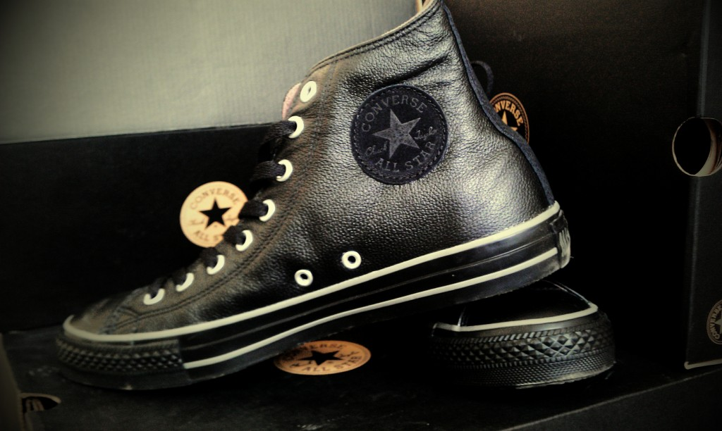 Black Leather Converse Chuck Taylor All stars